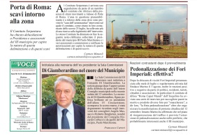 cantieri porta di roma -pedonalizzazione fori imperiali-