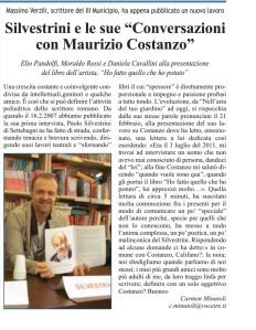 CM-LA VOCE DEL MUNICIPIO- Silvestrini e Maurizio Costanzo -libro- 7.3.14