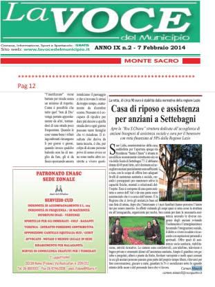 CM-LA VOCE DEL MUNICIPIO_casa riposo x anziani a settebagni 7.2.14