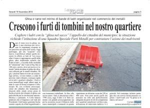 furti di chiusini in municipi  di roma