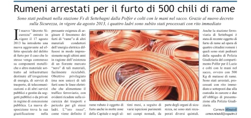 furti di rame montesacro roma
