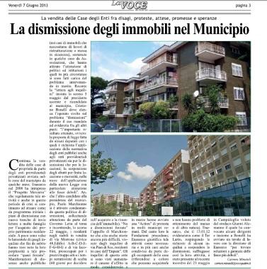 la dsmissione degli immobili nel municipio III roma