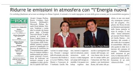 ridurre emissioni atmosfera con energia nuova