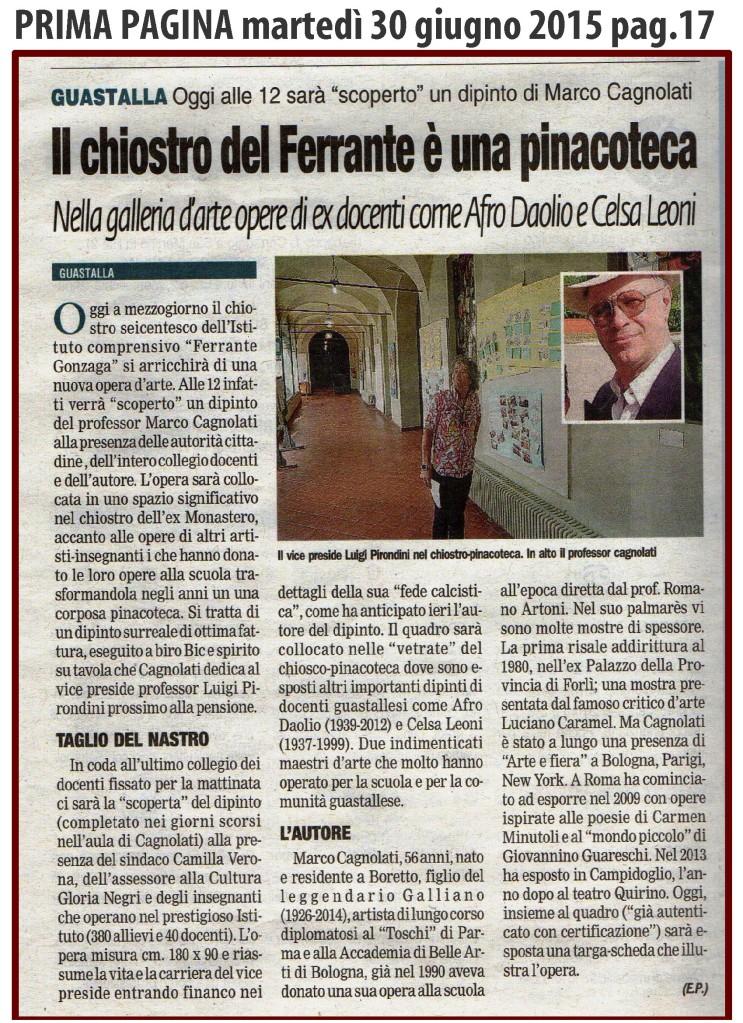 Luigi Pirondini - Gallery giornali Carmen Minutoli - Roma su PRIMA PAGINA